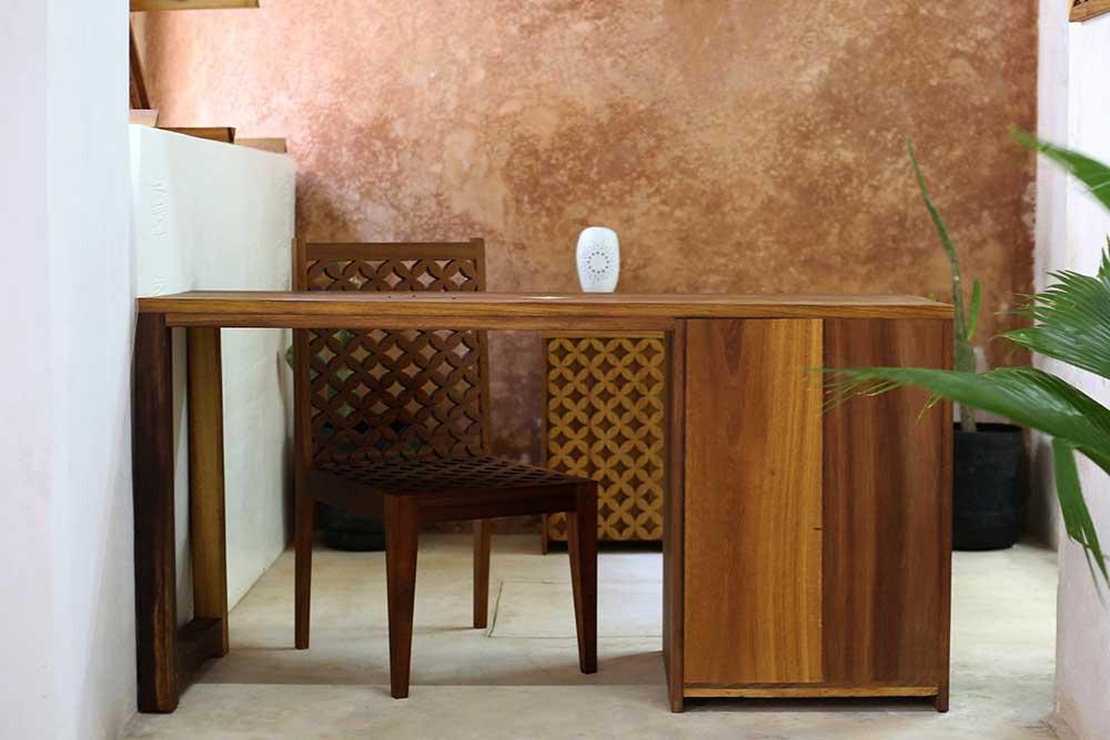 Saba Studio Wooden Hand carved patterned Desk