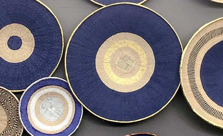 Handpainted Tonga Baskets Atelier Fifty Five-By Tapiwa Matsinde Celebrating Contemporary African Design