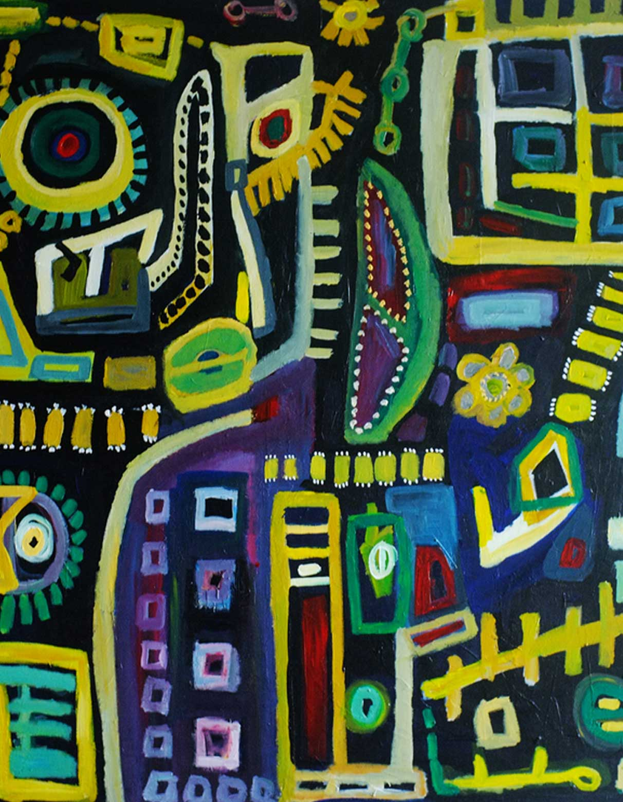Abstract Painting by Nelsa Guambe Mozambican Artist