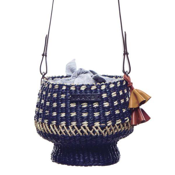 Blue Dot bucket bag