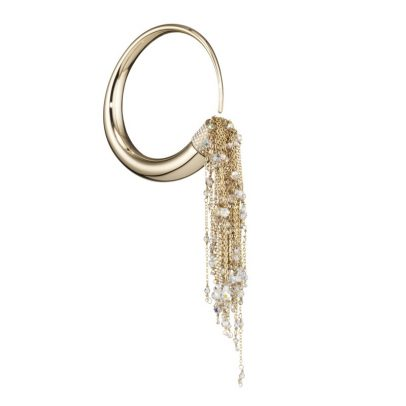 Eden Diodati KALIFA Gold and Swarovski crystal beaded BANGLE