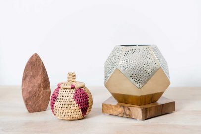 atelier   55 Dounia Home Ula Lamp, woven baskets decor