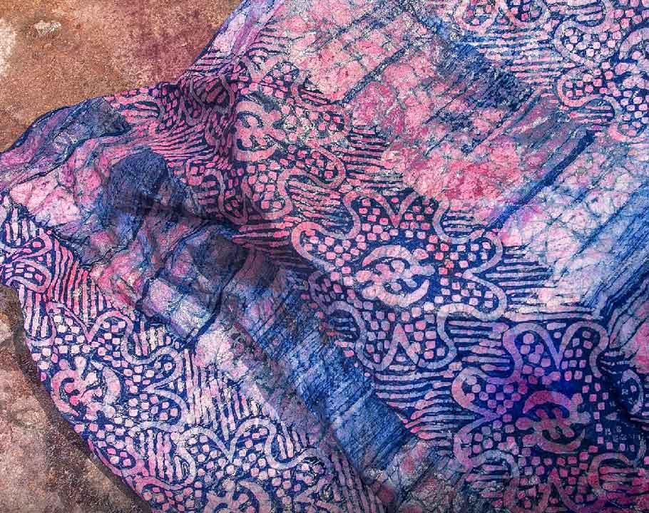 Handmade Batik In Ghana printed textile