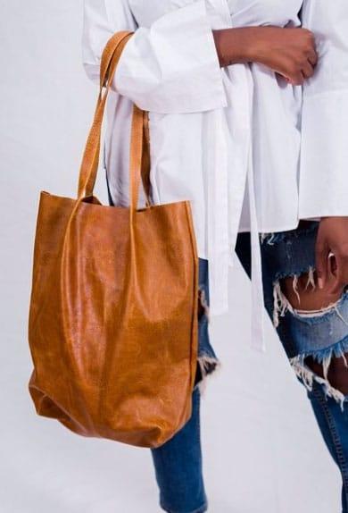 Kova Namibia tan leather tote