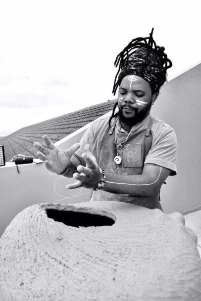 Ceramic artist and clay healer Andile Dyalvane