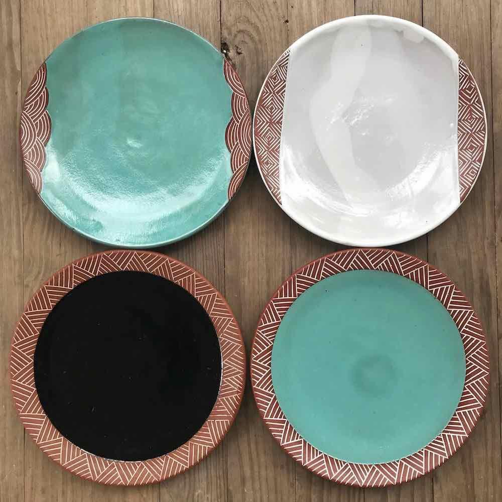 Pottery dinner plates By Osa Atoe