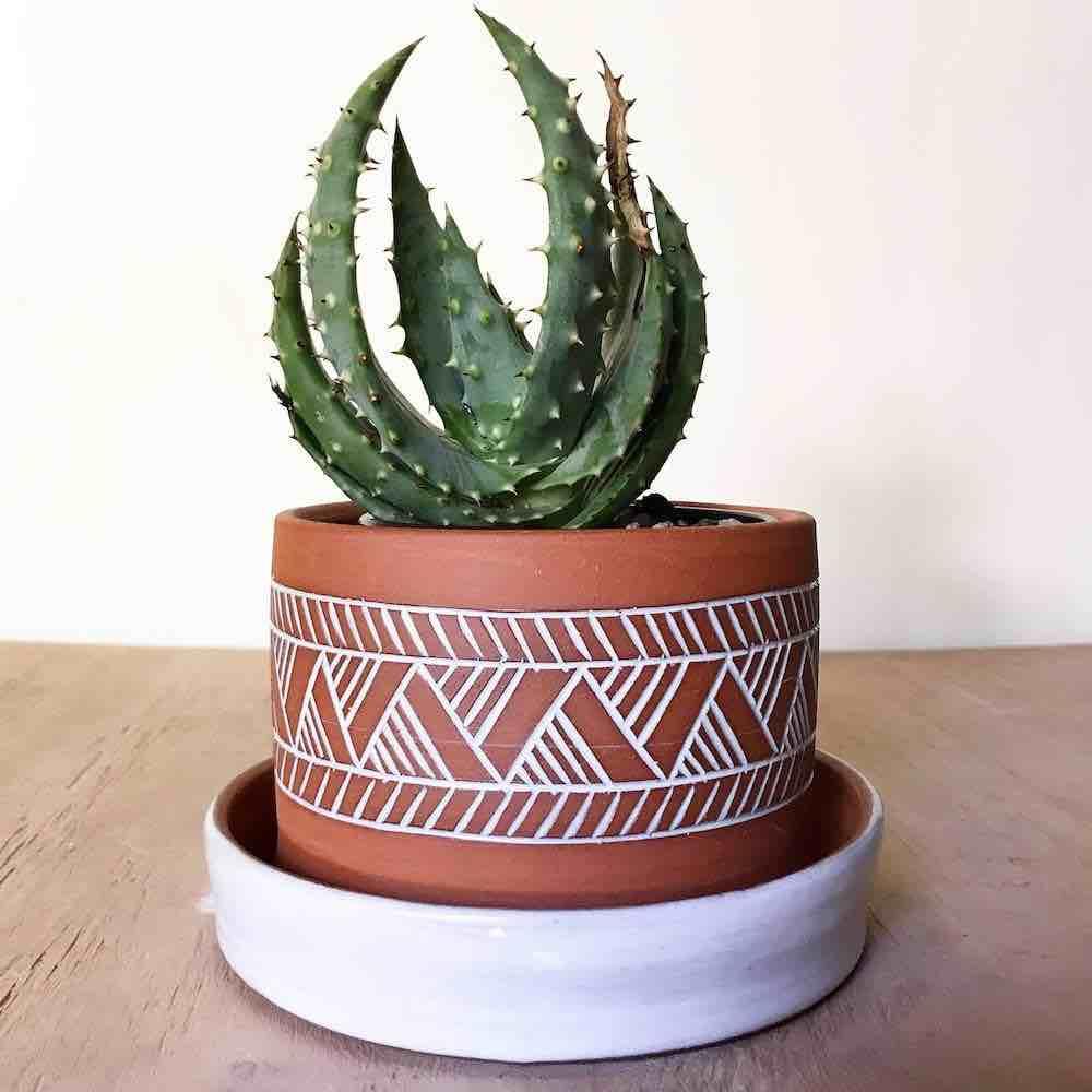 Pottery plant pot By Osa Atoe