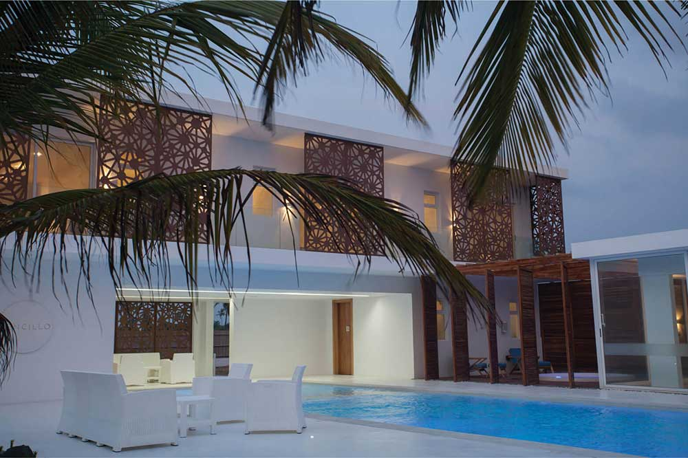 Sencillo a Stylish Minimalist Lagos Beach House At Night